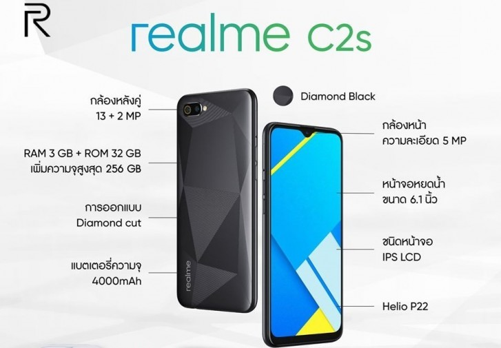 Realme C2s มือถือสุดถูก ฟังก์ชั่นเต็ม gadgetมาใหม่ อัพเดทโลกไซเบอร์
